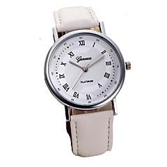 preiswerte Herrenuhren-Herrn Quartz Kleideruhr Chinesisch Chronograph PU Band Freizeit / Elegant Schwarz / Weiß