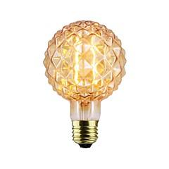 cheap LED Bulbs-1pc 2W 140-220lm E26 / E27 LED Filament Bulbs G80 2 LED Beads COB Dimmable Warm White 220-240V