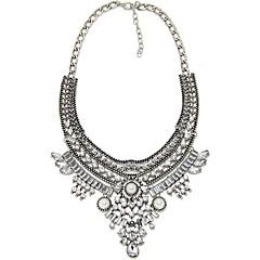 preiswerte Halsketten-Kragen - Künstliche Perle Tropfen Retro, Modisch, überdimensional Silber 55 cm Modische Halsketten Für Party / Abend, Alltag