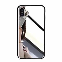 Недорогие Кейсы для iPhone 7-Кейс для Назначение Apple iPhone X / iPhone 8 Plus Зеркальная поверхность Кейс на заднюю панель Однотонный Твердый Акрил для iPhone X / iPhone 8 Pluss / iPhone 8