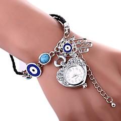 preiswerte Damenuhren-Damen Armband-Uhr Quartz Silber / Gold Armbanduhren für den Alltag Imitation Diamant Analog damas Heart Shape Böhmische - Gold Silber Ein Jahr Batterielebensdauer