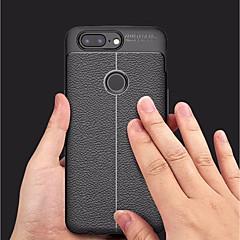 お買い得  その他のケース-ケース 用途 OnePlus OnePlus 5T エンボス加工 バックカバー ソリッド ソフト TPU のために OnePlus 5T