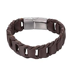 Недорогие Женские украшения-Муж. 1 Кожаные браслеты - Мода Геометрической формы Черный Коричневый Браслеты Назначение Повседневные
