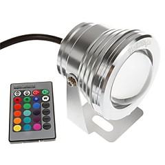 olcso Kültéri lámpa és gyertyatartók-YouOKLight 1db 10W Vízalatti világítás Távvezérelt Dekoratív RGB 12V Úszómedence