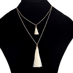 お買い得  ネックレス-女性用 レイヤードネックレス  -  二重構造 / カジュアル ユニーク UNIQUE ダークブルー / レインボー / レッド 47cm ネックレス 用途 祝日 / デート