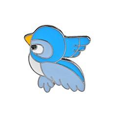 お買い得  ブローチ-女性用 鳥 ブローチ  -  動物 / カトゥーン / ファッション フラミンゴ / 翼 / 羽 ライトブルー ブローチ 用途 パーティー / 誕生日