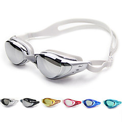 abordables Gafas de Natación-Gafas de natación Anti vaho / Tamaño Ajustable / Impermeable Gel de sílice PC Blanco / Negro / Azul Oscuro Verde / Rosa / Negro