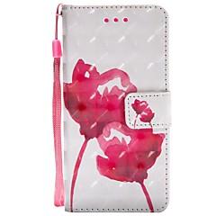 billige Etuier/deksler til Huawei-Etui Til Huawei Mate 10 Mate 10 lite Kortholder Lommebok med stativ Flipp Magnetisk Heldekkende etui Blomsternål i krystall Hard PU