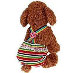 お買い得  犬用ウェア&アクセサリー-犬用 / 猫用 / ペット用 ジャンプスーツ 犬用ウェア 縞柄 / プリンセス レッド 中身 コスチューム ペット用 男性 スポーツ&アウトドア / ドレス