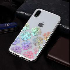 Недорогие Кейсы для iPhone X-Кейс для Назначение Apple iPhone X / iPhone 8 Покрытие / С узором Кейс на заднюю панель Кружева Печать Мягкий ТПУ для iPhone X / iPhone 8
