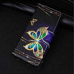 voordelige Hoesjes / covers voor Huawei-hoesje Voor Huawei P20 lite / P20 Kaarthouder / Portemonnee / met standaard Volledig hoesje Vlinder Hard PU-nahka voor Huawei P20 lite /