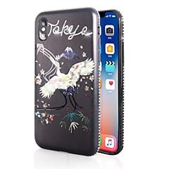 Недорогие Кейсы для iPhone-Кейс для Назначение Apple iPhone X / iPhone 8 Стразы / С узором Кейс на заднюю панель 3D в мультяшном стиле Мягкий ТПУ для iPhone X /