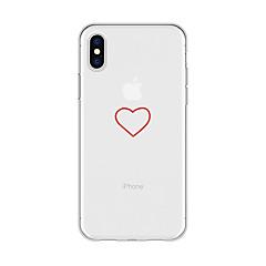 Недорогие Кейсы для iPhone 6-Кейс для Назначение Apple iPhone X / iPhone 8 Plus С узором Кейс на заднюю панель С сердцем / Мультипликация Мягкий ТПУ для iPhone X /