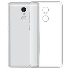 abordables Carcasas / Fundas para Xiaomi-Funda Para Xiaomi Redmi Note 4X Transparente Funda Trasera Un Color Suave TPU para Xiaomi Redmi Note 4X