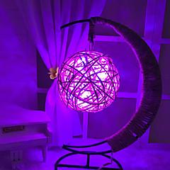 お買い得  LED アイデアライト-HKV 1個 LEDナイトライト 温白色 RGB バイオレット ブルー 単3乾電池 デコレーション 安全用具 創造的