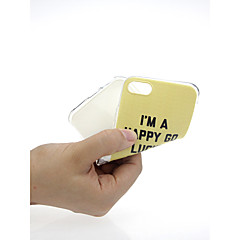Недорогие Кейсы для iPhone X-Кейс для Назначение Apple iPhone X / iPhone 7 Ультратонкий / С узором / Милый Кейс на заднюю панель Слова / выражения Мягкий ТПУ для