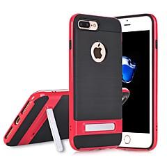 Недорогие Кейсы для iPhone-Кейс для Назначение Apple iPhone 6 Plus / iPhone 7 Plus Кольца-держатели Кейс на заднюю панель Однотонный Твердый ПК для iPhone 7 Plus /