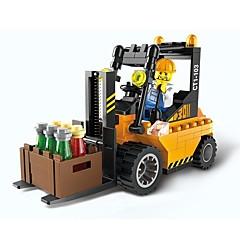 olcso -Építőkockák 115pcs Truck Szülő-gyermek interakció Munkagépek Ajándék