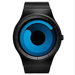 お買い得  メンズ腕時計-男性用 ファッションウォッチ クォーツ 30 m 耐水 カレンダー ストップウォッチ 合金 バンド ハンズ カジュアル ブラック - Blue / Black ブラック / ローズレッド 2年 電池寿命