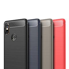 Недорогие Чехлы и кейсы для Xiaomi-Кейс для Назначение Xiaomi Mi Mix 2 / Xiaomi Mi Mix 2S Рельефный Кейс на заднюю панель Однотонный Мягкий ТПУ для Xiaomi Mi Mix 2 / Xiaomi Mi Mix 2S