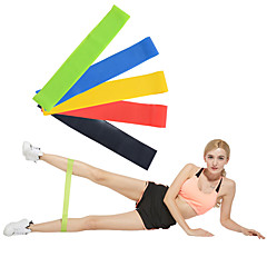 billiga Träningstillbehör-Motståndsband för träning Med 5 pcs Emulsion Brända Kalorier, Ogiftig, Stretch Styrketräning, Sjukgymnastik För Yoga / Pilates / Fitness Hem / Kontor
