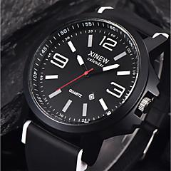 お買い得  メンズ腕時計-男性用 リストウォッチ 中国 カレンダー / クール シリコーン バンド カジュアル ブラック