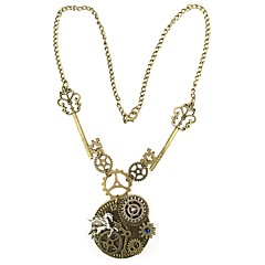 preiswerte Halsketten-Anhängerketten - Ausrüstung Retro, Europäisch, Steampunk Braun 55 cm Modische Halsketten Schmuck Für Alltag, Party