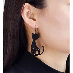 abordables Bijoux pour Femme-Boucles d'oreille goutte - Chat, Fleur, Etoile Mode Or / Noir Pour Quotidien Rendez-vous