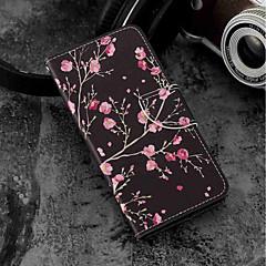 Недорогие Чехлы и кейсы для Xiaomi-Кейс для Назначение Xiaomi Mi 6X / Mi 5X Бумажник для карт / Кошелек / со стендом Чехол Цветы Твердый Кожа PU для Xiaomi Mi 6X(Mi A2) /