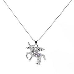Недорогие Ожерелья-Муж. клоун Ожерелья с подвесками  -  металлический / Мультяшная тематика / Крупногабаритные Геометрической формы Белый 50cm Ожерелье