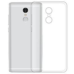 Недорогие Чехлы и кейсы для Xiaomi-Кейс для Назначение Xiaomi Redmi Note 4 Прозрачный Кейс на заднюю панель Однотонный Мягкий ТПУ для Xiaomi Redmi Note 4