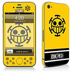 Χαμηλού Κόστους Αυτοκόλλητα για iPhone-1 τμχ Αυτοκόλλητο Καλύμματος για Προστασία από Γρατζουνιές Κινούμενα σχέδια Μοτίβο PVC iPhone 4/4s