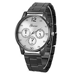 お買い得  ラグジュアリー腕時計-男性用 リストウォッチ 中国 クロノグラフ付き / クリエイティブ / 大きめ文字盤 ステンレス バンド ぜいたく 白 / シルバー