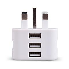 cheap -Portable Charger USB Charger UK Plug 3 USB Ports 2.1 A 100~240 V