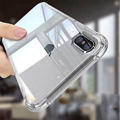 Недорогие Кейсы для iPhone-Кейс для Назначение Apple iPhone 6s / Кейс для iPhone 5 Защита от удара / Прозрачный Body Кейс на заднюю панель Однотонный Мягкий ТПУ для
