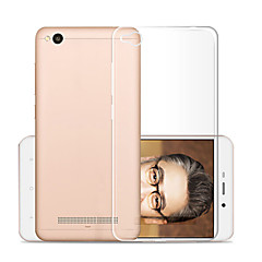 Недорогие Чехлы и кейсы для Xiaomi-Кейс для Назначение Xiaomi Redmi 4a Прозрачный Кейс на заднюю панель Однотонный Мягкий ТПУ для Xiaomi Redmi 4a