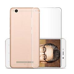 abordables Carcasas / Fundas para Xiaomi-Funda Para Xiaomi Redmi 4a Transparente Funda Trasera Un Color Suave TPU para Xiaomi Redmi 4A