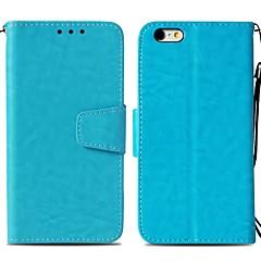 Недорогие Кейсы для iPhone-Кейс для Назначение Apple iPhone 6 Plus Бумажник для карт / Кошелек / со стендом Чехол Однотонный Твердый Кожа PU для iPhone 6 Plus