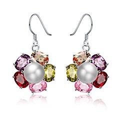 preiswerte Ohrringe-Damen Perle Süßwasserperle Tropfen-Ohrringe - Perle, Edelstahl, 18K Gold Modisch Regenbogen Für Geschenk Party
