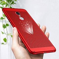 Недорогие Чехлы и кейсы для Xiaomi-Кейс для Назначение Xiaomi Redmi Note 4X / Redmi Note 4 Ультратонкий Кейс на заднюю панель Однотонный Твердый ПК для Xiaomi Redmi Note 4X / Xiaomi Redmi Note 4 / Xiaomi Redmi 5 Plus / Xiaomi Redmi 4a