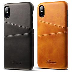 Недорогие Кейсы для iPhone X-Кейс для Назначение Apple iPhone X / iPhone 7 Бумажник для карт Кейс на заднюю панель Однотонный Твердый Кожа PU для iPhone X / iPhone 8 / iPhone 7 Plus
