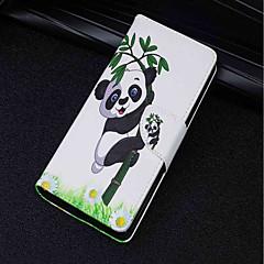Недорогие Чехлы и кейсы для Sony-Кейс для Назначение Sony Xperia XA2 Ultra / Xperia XZ2 Бумажник для карт / Кошелек / со стендом Чехол Панда Твердый Кожа PU для Xperia