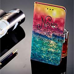 Недорогие Чехлы и кейсы для Sony-Кейс для Назначение Sony Xperia XZ2 Compact / Xperia XZ2 Кошелек / Бумажник для карт / со стендом Чехол Пейзаж Твердый Кожа PU для Xperia XZ2 / Xperia XA2 / Sony Xperia XZ1