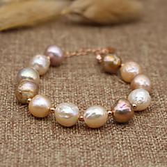 preiswerte Armbänder-Damen Perle Süßwasserperle Strang-Armbänder - Süßwasserperle Einfach, Natur, Ethnisch Armbänder Regenbogen Für Party Geschenk