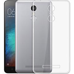 Недорогие Чехлы и кейсы для Xiaomi-Кейс для Назначение Xiaomi Mi Note 3 Прозрачный Кейс на заднюю панель Однотонный Мягкий ТПУ для Xiaomi Redmi Note 3