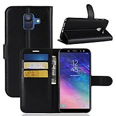 abordables Novedades-Funda Para Samsung Galaxy A6+ (2018) / A6 (2018) Cartera / Soporte de Coche / Flip Funda de Cuerpo Entero Un Color Dura Cuero de PU para A6 (2018) / A6+ (2018) / A8 2018