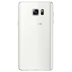 Недорогие Чехлы и кейсы для Galaxy Note 5-Кейс для Назначение SSamsung Galaxy Note 5 Прозрачный Кейс на заднюю панель Однотонный Мягкий ТПУ для Note 5