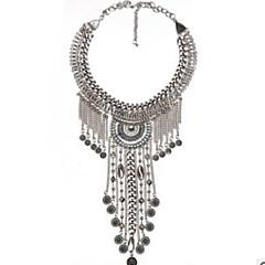 abordables Alta Joyería-Collares Babero Collar - Vintage, De Gran Tamaño Dorado, Plata 59 cm Gargantillas Joyas Para Fiesta / Noche