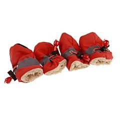 お買い得  犬用ウェア&アクセサリー-犬用 / 猫用 ブーツ / ペットの靴 スポーツ&アウトドア ソリッド レッド / ブルー / ピンク ペット用