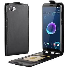 Недорогие Чехлы и кейсы для HTC-Кейс для Назначение HTC U11 Life / HTC Desire 12 Бумажник для карт / Флип Чехол Однотонный Твердый Кожа PU для HTC U11 plus / HTC U11
